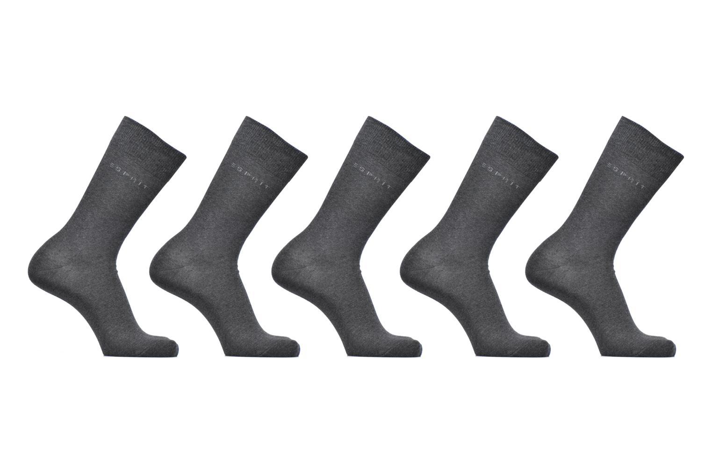Chaussettes et collants Esprit Chaussettes Unies Lot de 5 Gris vue détail/paire
