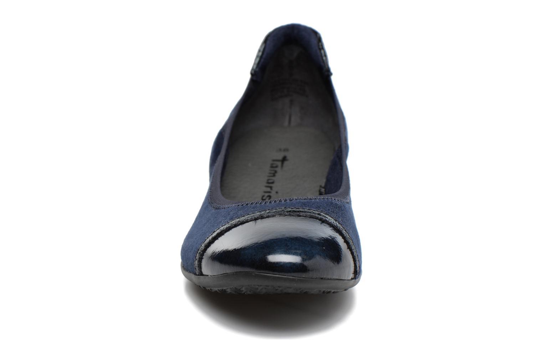 Ballerines Tamaris Idril Bleu vue portées chaussures