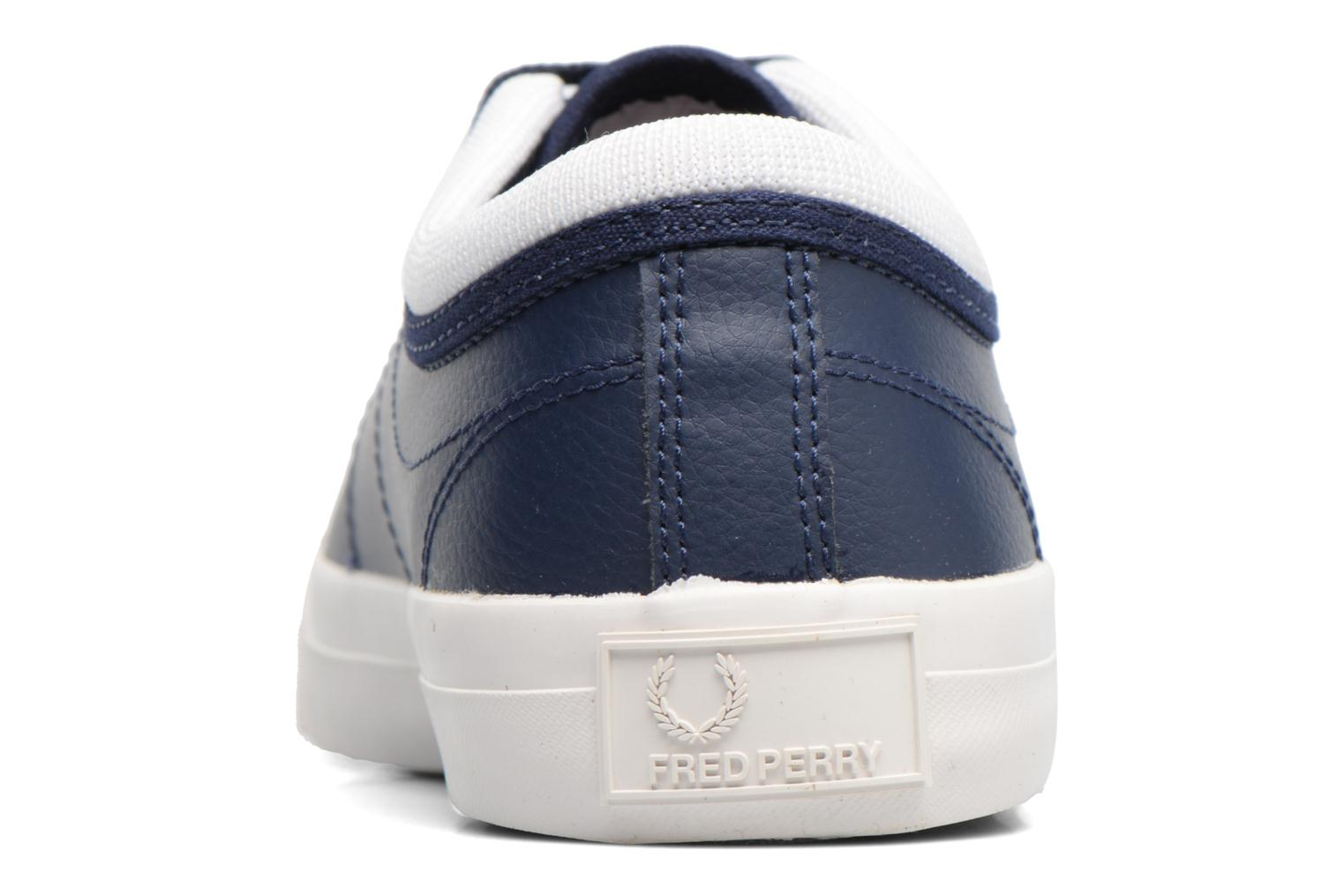 Baskets Fred Perry Kendrick Reversed Tipped Cuff Leather Bleu vue droite