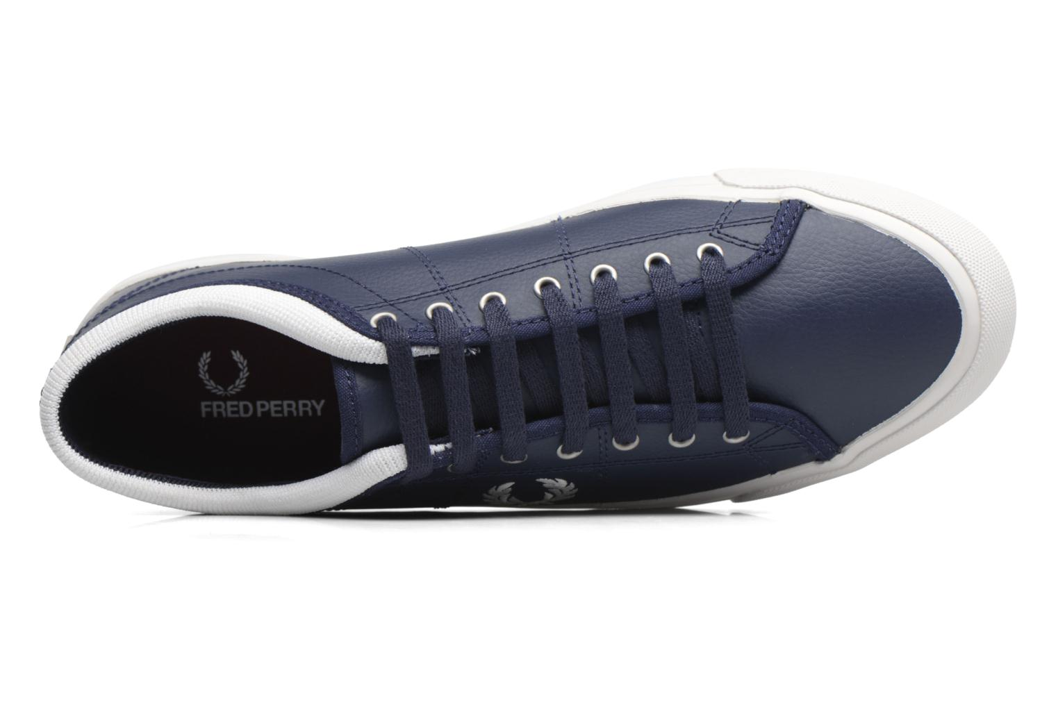 Kendrick Reversed Tipped Cuff Leather Carbon blue/Snow white