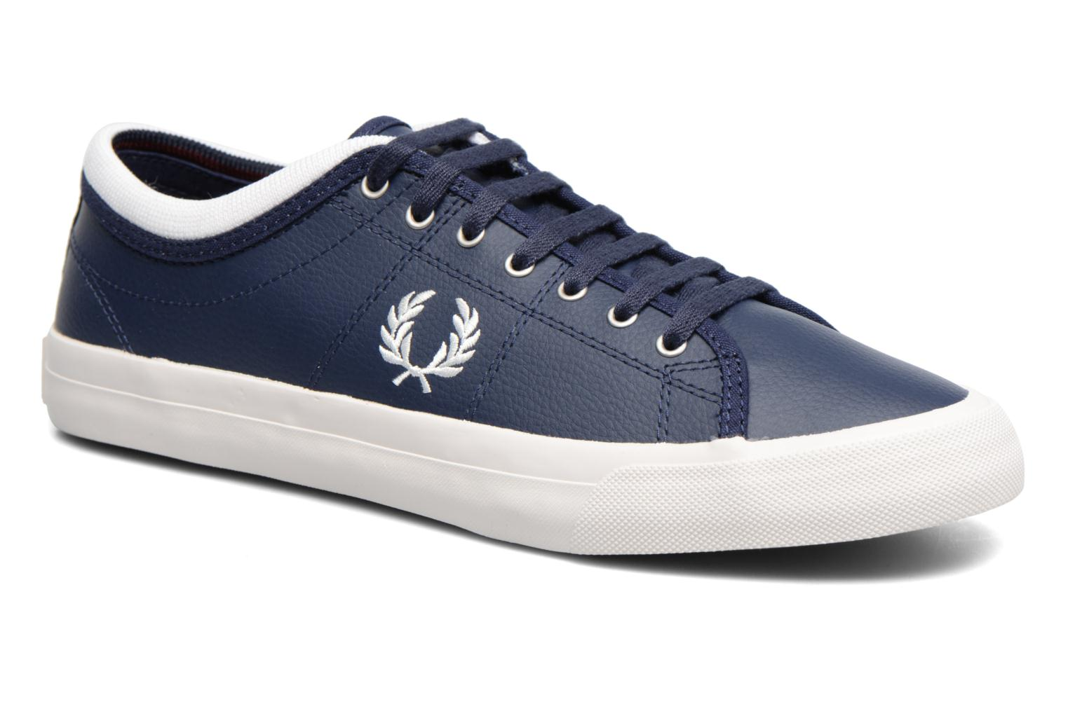 Baskets Fred Perry Kendrick Reversed Tipped Cuff Leather Bleu vue détail/paire