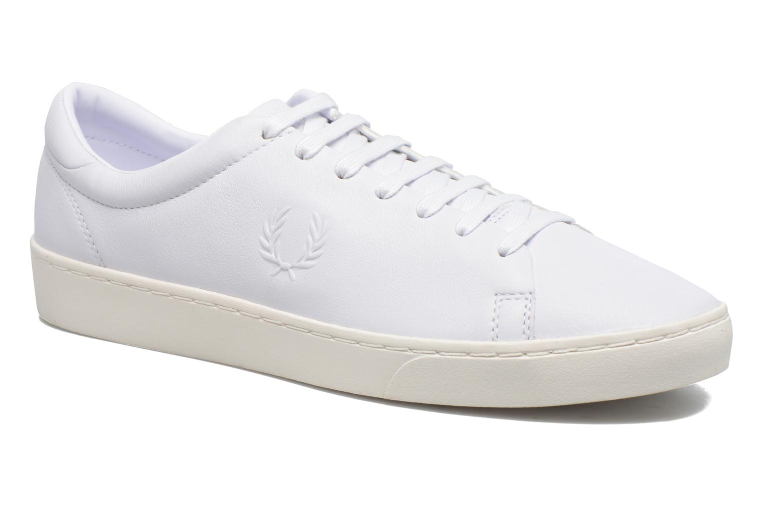 Marques Chaussure homme Fred Perry homme Spencer premium leather White