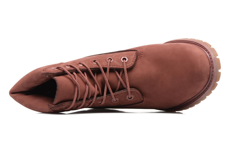 Bottines et boots Timberland 6in Premium Boot - W Bordeaux vue gauche