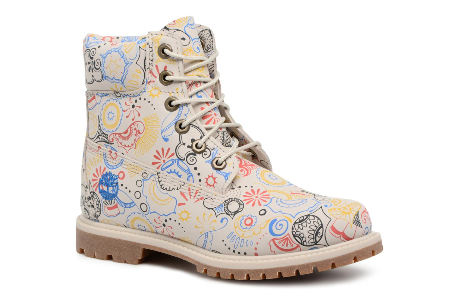 6in Premium Boot - W Rainy Day Waterbuck w/Ocean Henna Print