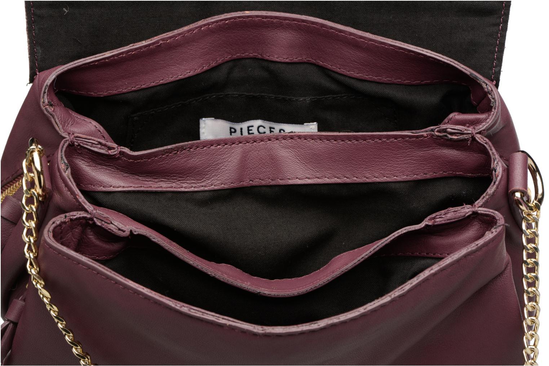 Sacs à main Pieces Jase Leather Crossbody Bordeaux vue derrière
