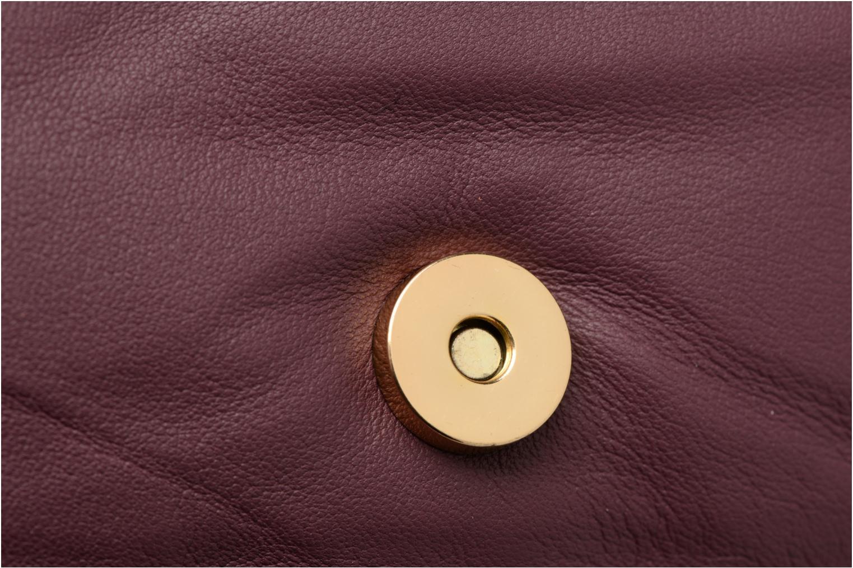 Sacs à main Pieces Jase Leather Crossbody Bordeaux vue gauche