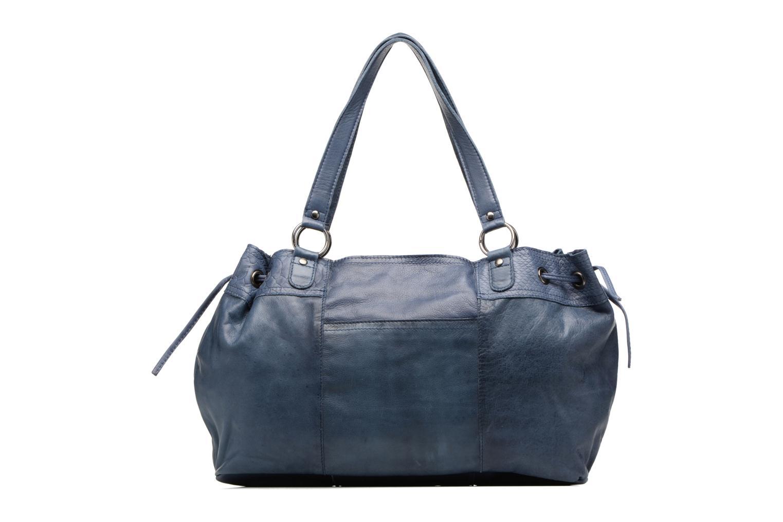 Sacs à main Pieces Jihano Leather Bag Bleu vue face