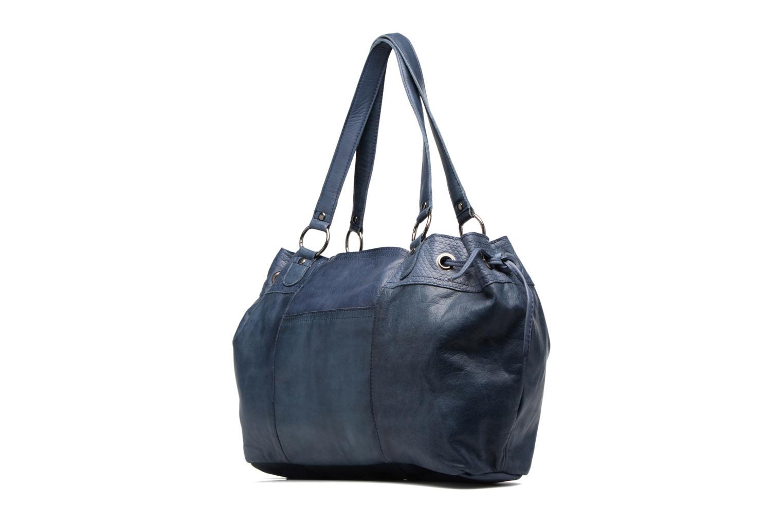 Sacs à main Pieces Jihano Leather Bag Bleu vue droite
