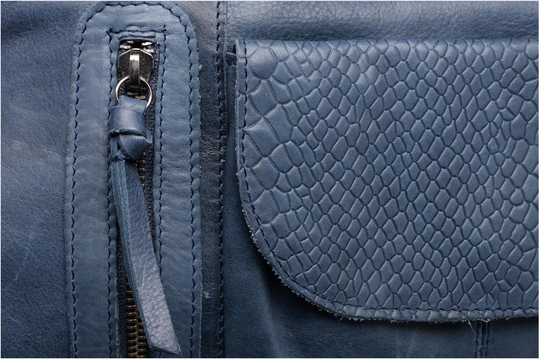 Sacs à main Pieces Jihano Leather Bag Bleu vue gauche