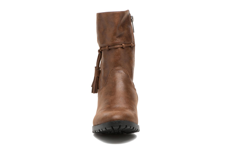 Bottes Les P'tites Bombes Gladys Marron vue portées chaussures