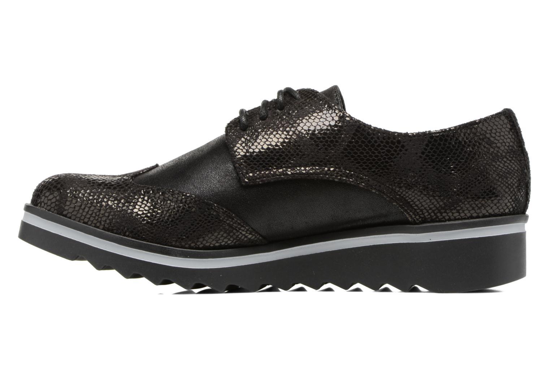 Chaussures à lacets Les P'tites Bombes Charleston Noir vue face