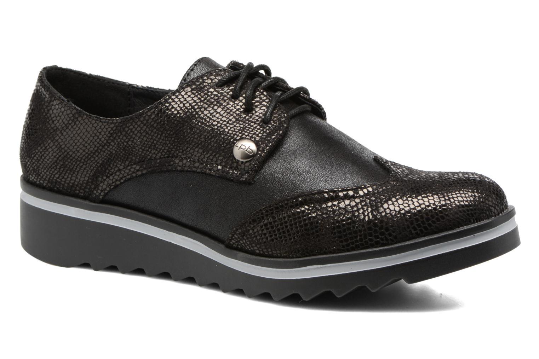 Chaussures à lacets Les P'tites Bombes Charleston Noir vue détail/paire