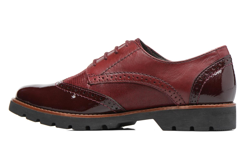 Chaussures à lacets Jana shoes Joséphine Bordeaux vue face