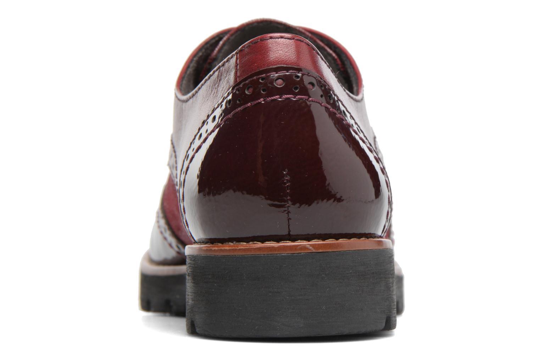 Chaussures à lacets Jana shoes Joséphine Bordeaux vue droite