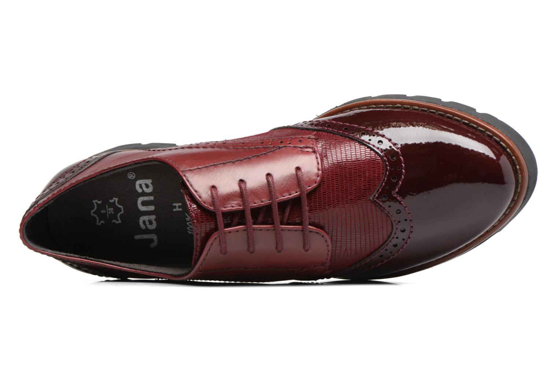 Chaussures à lacets Jana shoes Joséphine Bordeaux vue gauche