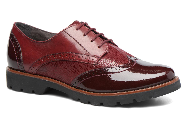 Chaussures à lacets Jana shoes Joséphine Bordeaux vue détail/paire