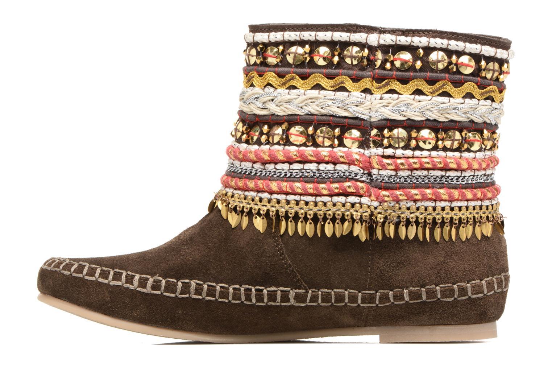 Bottines et boots Les Tropéziennes par M Belarbi Kan Marron vue face