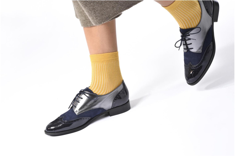 Chaussures à lacets Georgia Rose Tritrou Bleu vue bas / vue portée sac
