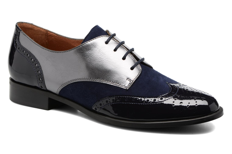 Lace-up shoes Georgia Rose Tritrou Blue detailed view/ Pair view