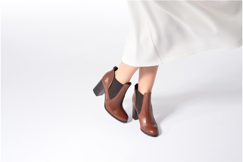 Bottines et boots Georgia Rose Aclous Noir vue bas / vue portée sac