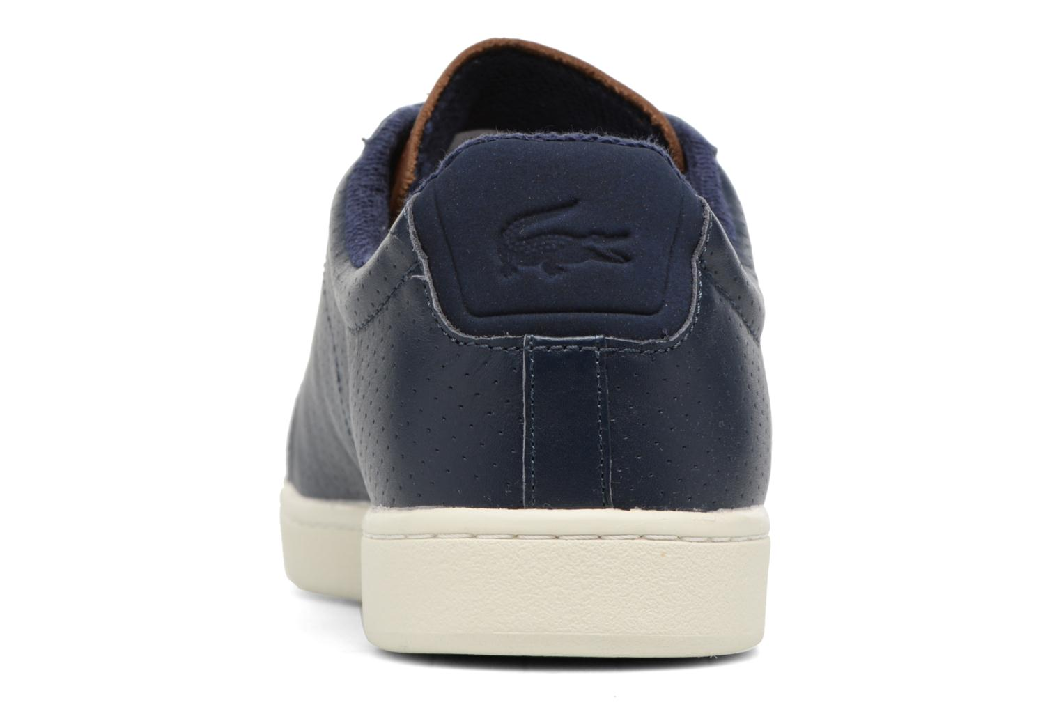 Baskets Lacoste CARNABY EVO 317  Bleu vue droite