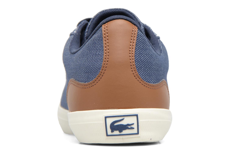 Baskets Lacoste LEROND 317 2 H Bleu vue droite