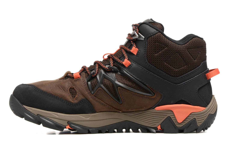 Chaussures de sport Merrell All Out Blaze 2 Mid Gtx Marron vue face