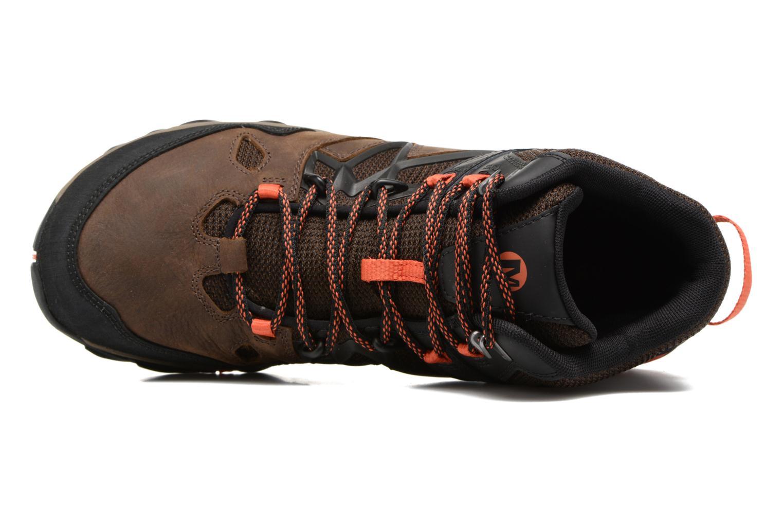 Chaussures de sport Merrell All Out Blaze 2 Mid Gtx Marron vue gauche