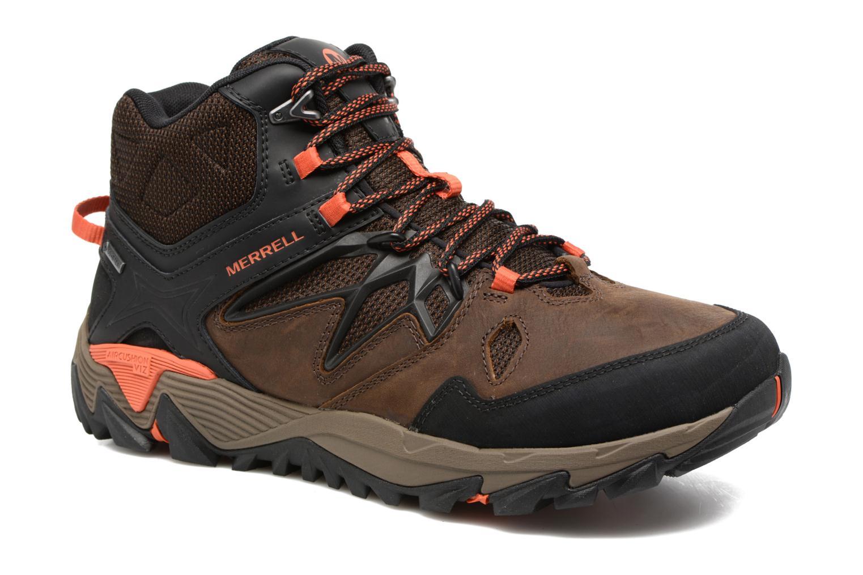 Chaussures de sport Merrell All Out Blaze 2 Mid Gtx Marron vue détail/paire