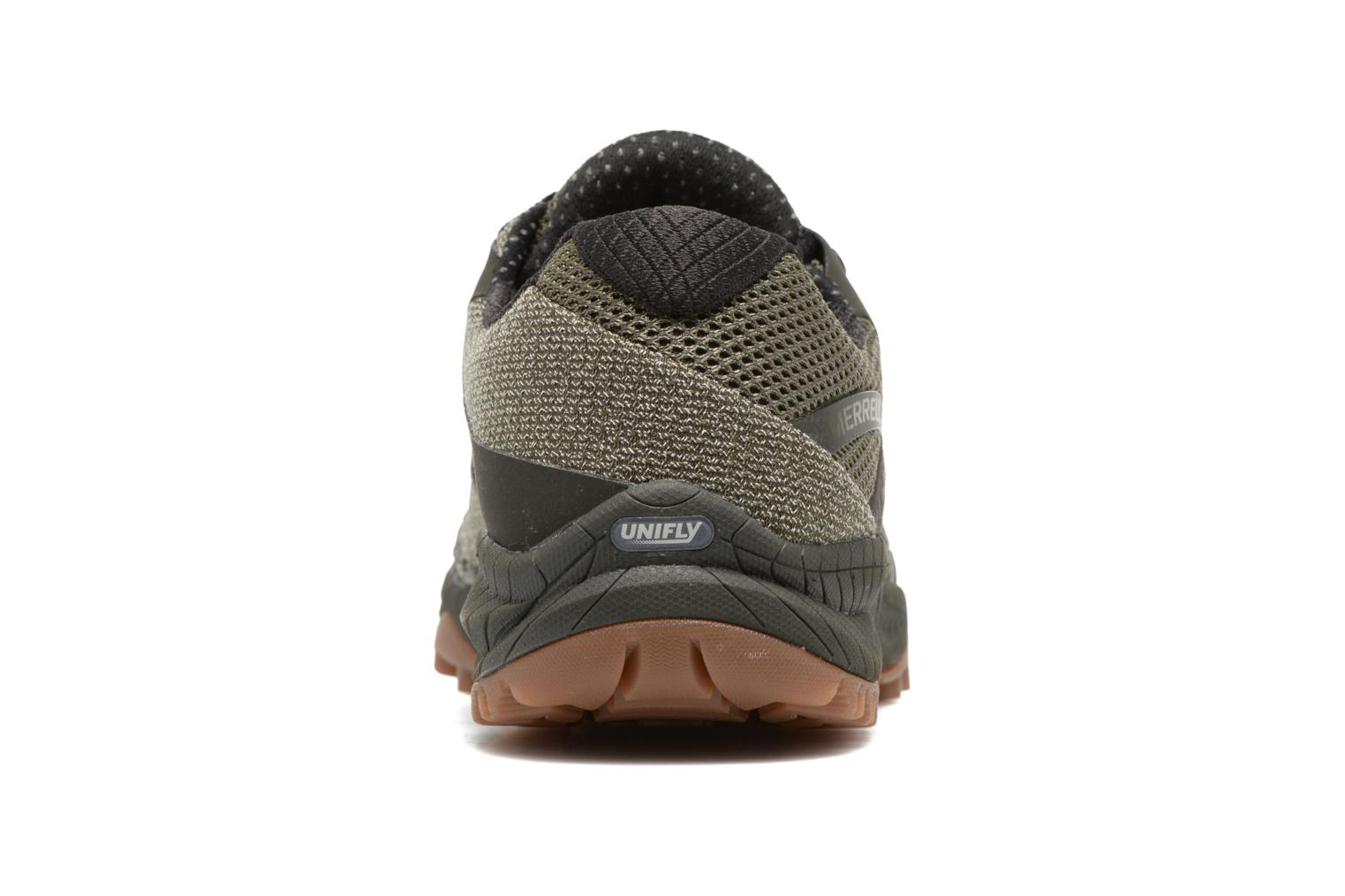 Chaussures de sport Merrell All Out Charge Vert vue droite