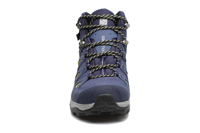 Chaussures de sport Salomon X Ultra 3 Mid Gtx W Bleu vue portées chaussures