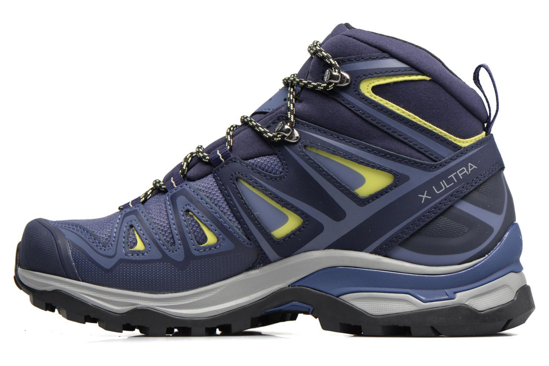 Zapatillas de deporte Salomon X Ultra 3 Mid Gtx W Azul vista de frente