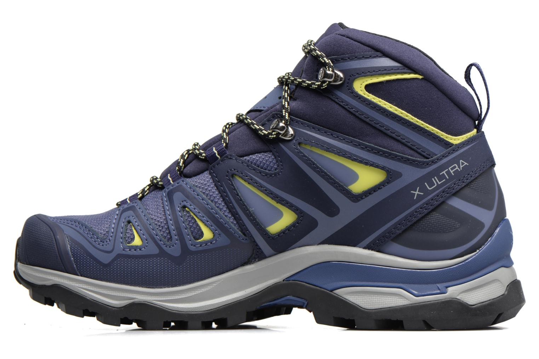 Chaussures de sport Salomon X Ultra 3 Mid Gtx W Bleu vue face
