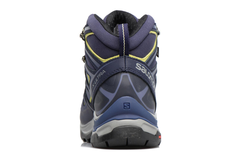 Zapatillas de deporte Salomon X Ultra 3 Mid Gtx W Azul vista lateral derecha