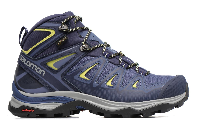 Chaussures de sport Salomon X Ultra 3 Mid Gtx W Bleu vue derrière
