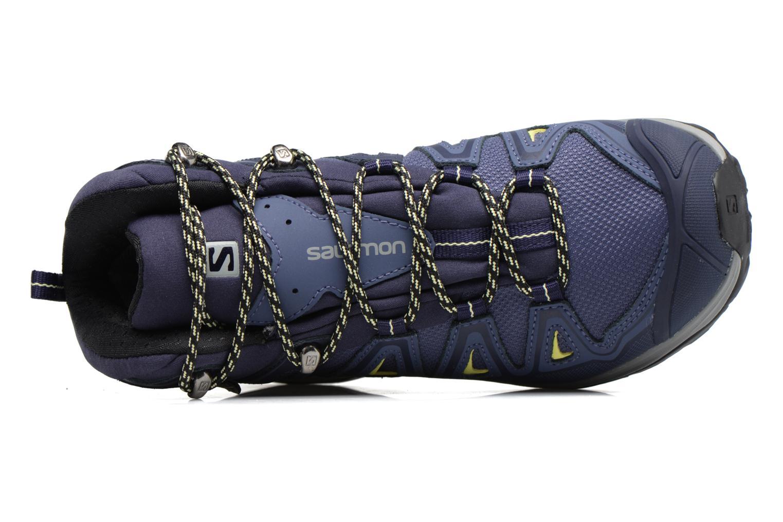 Chaussures de sport Salomon X Ultra 3 Mid Gtx W Bleu vue gauche