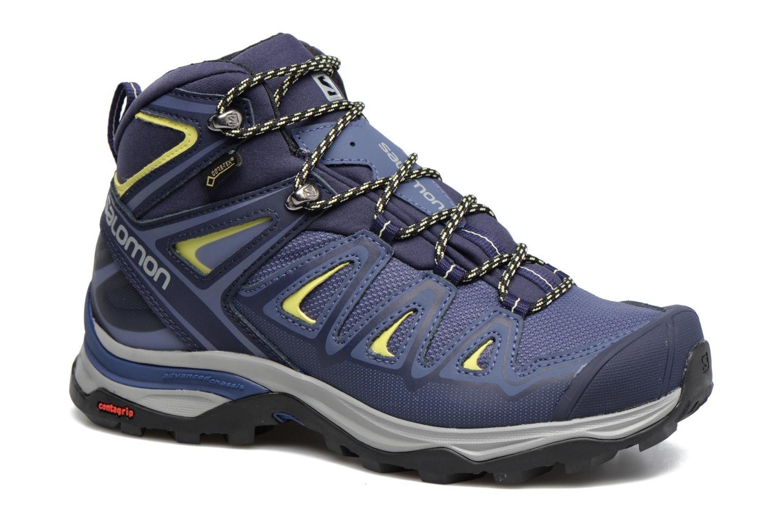 Chaussures de sport Salomon X Ultra 3 Mid Gtx W Bleu vue détail/paire
