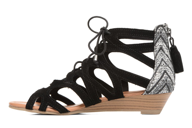 Sandales et nu-pieds Minnetonka merida III Noir vue face
