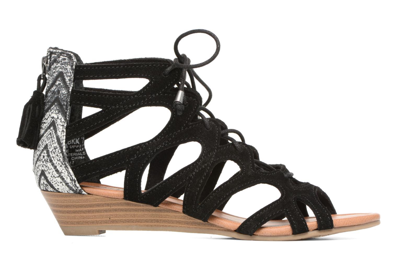 Sandales et nu-pieds Minnetonka merida III Noir vue derrière