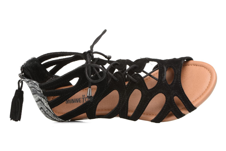 Sandales et nu-pieds Minnetonka merida III Noir vue gauche