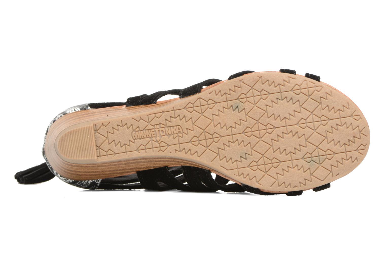 Sandales et nu-pieds Minnetonka merida III Noir vue haut