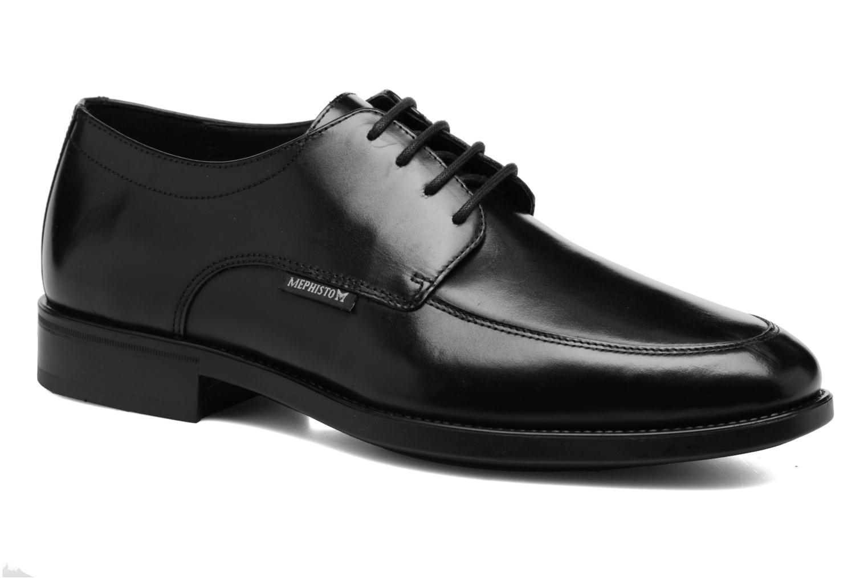 Chaussures à lacets Mephisto Carlo Noir vue détail/paire