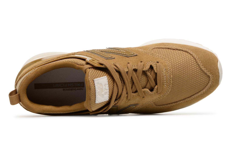 Baskets New Balance MS574 Marron vue gauche