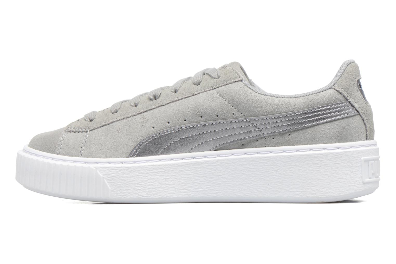 Sneaker Puma Wns Basket Platform Safa grau ansicht von vorne