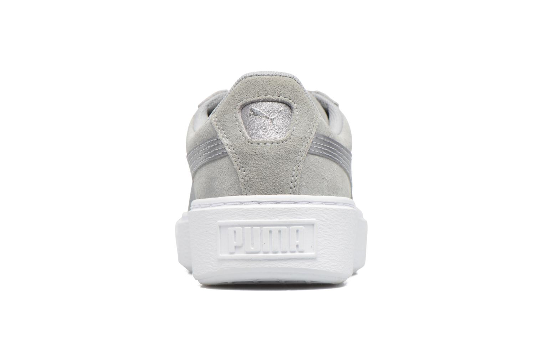 Sneaker Puma Wns Basket Platform Safa grau ansicht von rechts