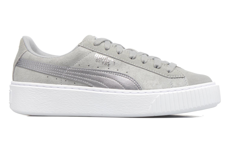 Sneaker Puma Wns Basket Platform Safa grau ansicht von hinten