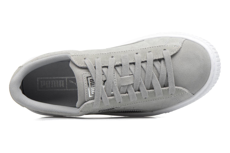 Sneaker Puma Wns Basket Platform Safa grau ansicht von links