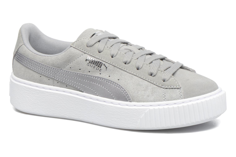 puma basket platform grigio