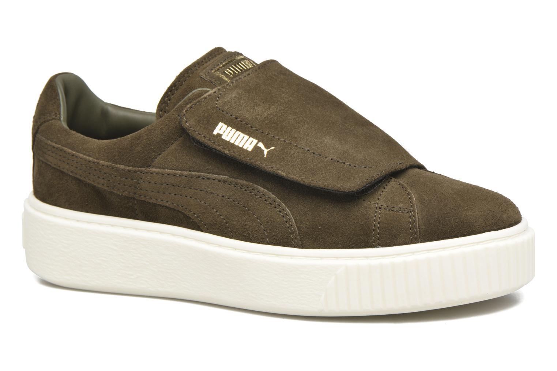Los últimos zapatos de descuento para hombres y mujeres Puma Wns Suede Plat Bigv (Verde) - Deportivas en Más cómodo