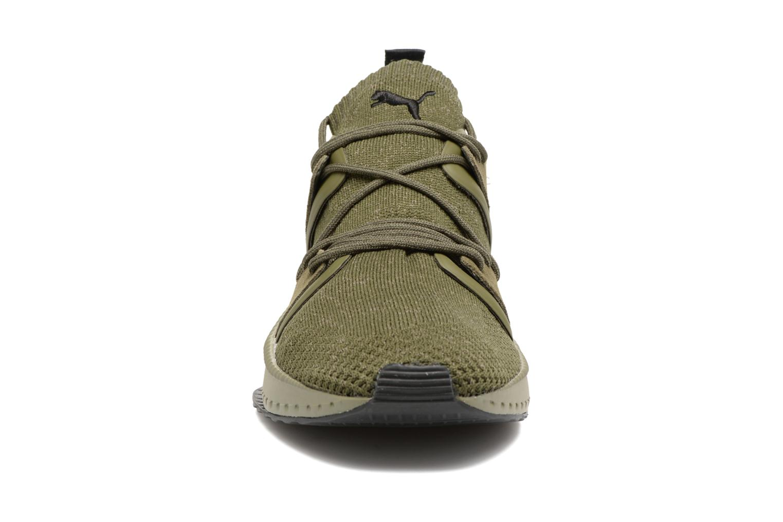 Baskets Puma Tsugi Blaze Evoknit Vert vue portées chaussures